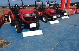 農機具展示会会場機材イメージアップ